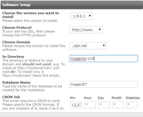 Instalar Magento - Software Setup
